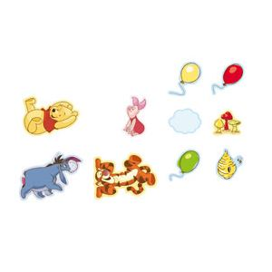 Decofun Stickers mousse Winnie l'ourson (10 pièces)