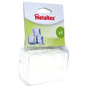 Metaltex 4 bacs à glaçons en plastique
