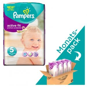 Pampers Active Fit taille 5 Junior (11-25 kg) - Pack économique x 136 couches
