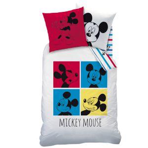 Cti Mickey Mouse Photomaton - Housse de couette et taie (140 x 200 cm)