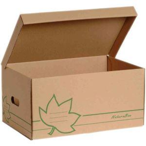 Fast 10 conteneurs kraft Nature Line ouverture sur le dessus en carton (26 x 52 x 35 cm)