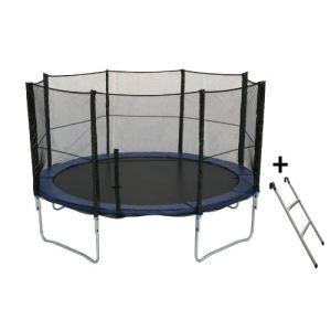 trampoline 430 avec filet et echelle comparer 36 offres. Black Bedroom Furniture Sets. Home Design Ideas