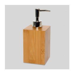 distributeur savon rechargeable en bambou - Accessoire Salle De Bain Bambou