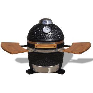 VidaXL Kamado - Barbecue au charbon de bois en céramique 44 cm