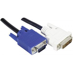 Cordon DVI-A / VGA HD15M 10m