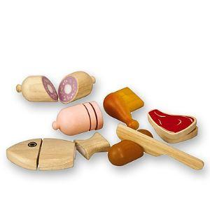 Plan Toys PT3457 - Aliments à couper en bois