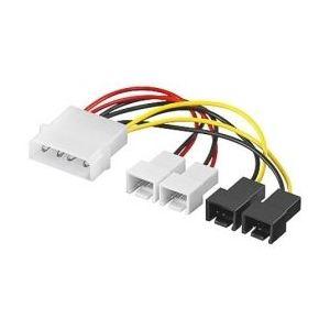Manhattan cd93632 - Adaptateur alimentation ventilateur PC Molex mâle vers 2x3P 12V et 2x3P 5V 14cm