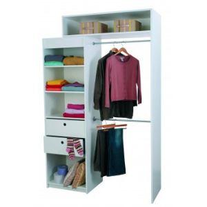 kit dressing blanc comparer 118 offres. Black Bedroom Furniture Sets. Home Design Ideas