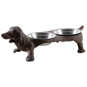 Aubry Gaspard Double gamelle chien en fonte