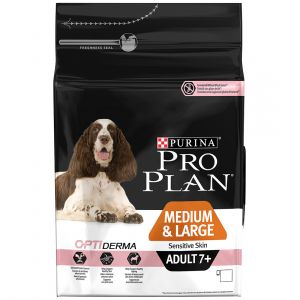 Purina Pro Plan Optiderma chien senior medium large 7 ans sensitive skin 14 kg
