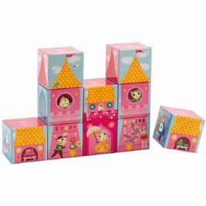 Djeco Puzzle 10 cubes : Château de princesse