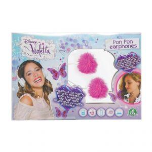 Giochi Preziosi 70023021 - Écouteurs pompons Violetta avec sac