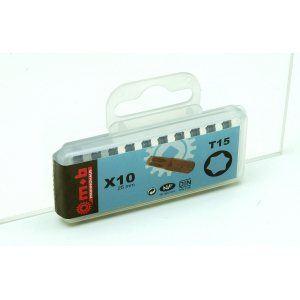 Mob 919D071401 - Boite 10 embouts nus 1/4 T7 Torx