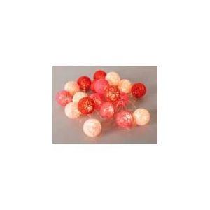 Corep Bubble - Guirlande lumineuse 20 boules LED en coton tressé
