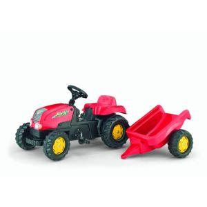 Rolly Toys Tracteur à pédales Rolly Kid avec remorque
