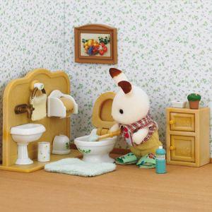 Epoch Sylvanian Families 2203 - Frère lapin chocolat/toilettes