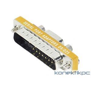 086340 - Mini adaptateur DB9 / DB25 9F 25m