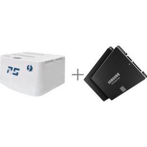 HighPoint RocketStor 5212 - Dock Thunderbolt + 2 x SSD 850 Evo 500 Go