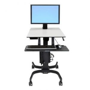 Ergotron 24-216-085 - WorkFit-C écran moyen HD station de travail en position assise ou debout