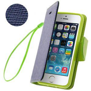 Avizar FOLIO-FANCY - Étui à clapet portefeuille avec dragonne pour iPhone 5
