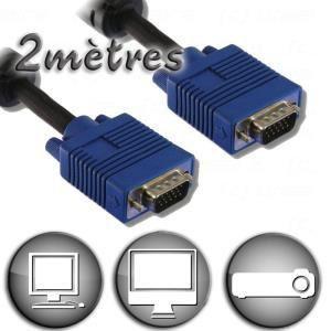 Cordon VGA HD15 Mâle / Mâle 2 m