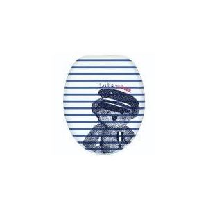 Lulu Castagnette Abattant de toilette bois Marin lunette WC standard charnieères ilulunox