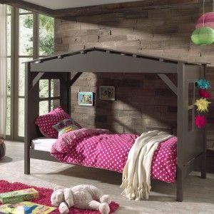 Lit cabane enfant avec sommier (90 x 200 cm)