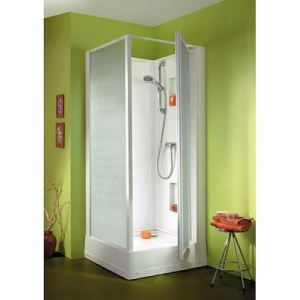 Leda Cabine douche Izibox carrée face (80 x 80 cm/204 cm)