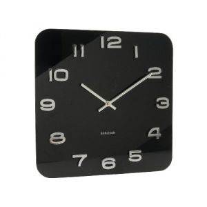 achat present time karlsson horloge murale carr e vintage 35 cm. Black Bedroom Furniture Sets. Home Design Ideas
