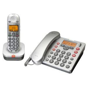 Amplicomms BigTel 480 - Téléphone filaire avec répondeur + téléphone sans fil
