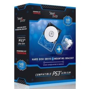 Steelplay Pack Disque dur 500 Go + support PS3 Slim