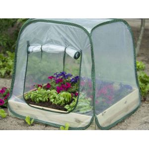 Nature World 6020408 - Serre souple pop up pour carré potager (1 x 1 m)