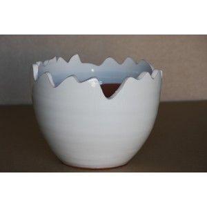 Clair de Terre Calimero - Poterie en terre cuite émaillée forme fantaisie Ø25 x 17 cm