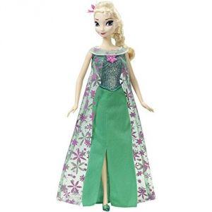 Mattel Poupée Elsa chanteuse une fête givrée La Reine Des Neiges