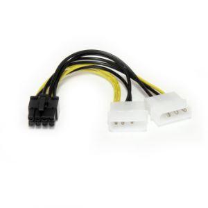 StarTech.com LP4PCIEX8ADP - Câble adaptateur d'alimentation LP4 vers carte vidéo Express PCI 8 broches de 15 cm