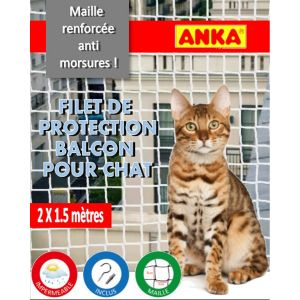 Anka Filet de protection pour chat 2 x 1.50 m