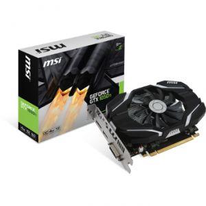 MSI Carte graphique GeForce GTX 1050 Ti 4 Go OC