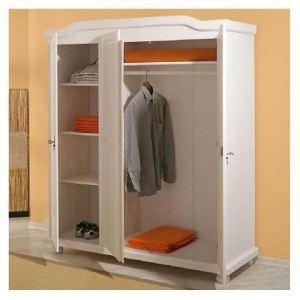 Links Armoire Bastian 3 portes en pin massif