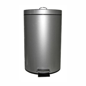 Frandis Poubelle à pédale en métal (20 L)