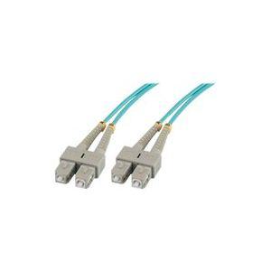 MCL Samar FJOM3/SCSC-2M - Jarretière optique OM3 duplex 50/125 multimode SC / SC 2m