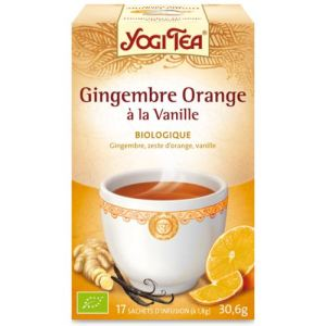 Yogi Tea Gingembre Orange à la Vanille - Tisane ayurvédique Bio