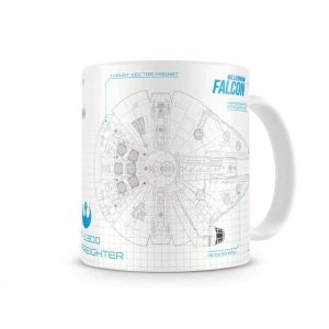 SD Toys Mug Star Wars Episode 7 Blueprint Millenium Falcon