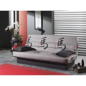 Canapé clic-clac Tokyo 3 places en tissu