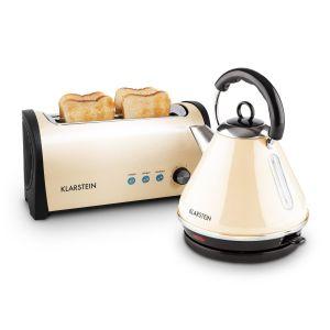 Klarstein Set petit-déjeuner : grille-pain et bouilloire