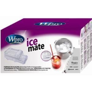 Wpro ICM101 - Fabrique de glaçons portative avec 2 twist-bacs et réservoir