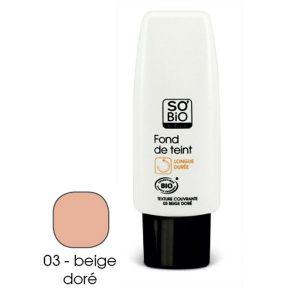 So'Bio Étic Fond de teint Beige doré longue tenue 30 ml