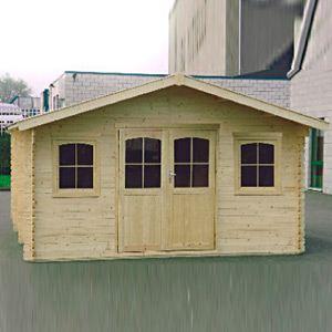 Decor et jardin 76768SZ00 - Abri de jardin en bois massif 34 mm 23,62 m2