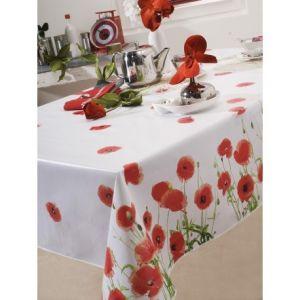 Red Poppy - Toile cirée ovale (180 x 240 cm)