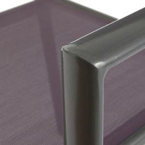 Proloisirs 4 fauteuils de jardin Linéa en aluminium et textilène