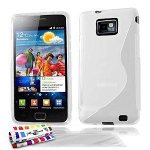 Muzzano Le S Premium - Coque souple Ultra Fine pour Samsung Galaxy S2 + 3 protections écrans